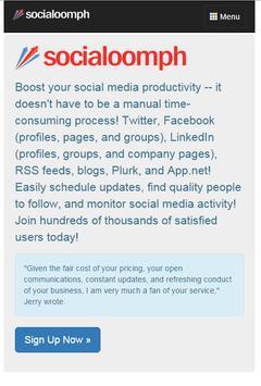 SocialOomph - Top Twitter Tool poster