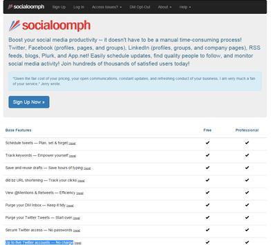 SocialOomph - Top Twitter Tool apk screenshot