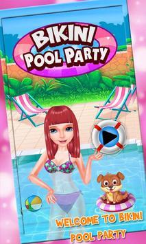 Bikini Girls Pool Party - Girls Swimming Pool Game poster