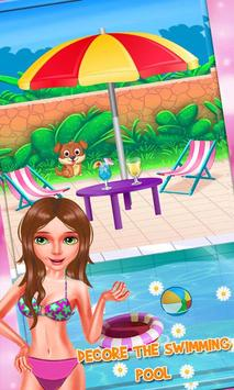 Bikini Girls Pool Party - Girls Swimming Pool Game screenshot 18