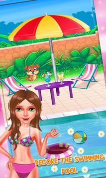 Bikini Girls Pool Party - Girls Swimming Pool Game screenshot 2