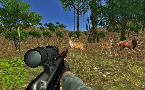 hunting animals in 3dforest poster