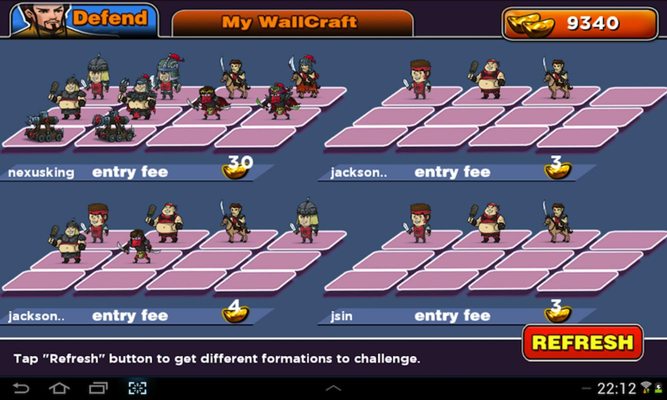 Kingdom Wars: Wallcraft For Android
