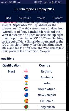 ICC Champions Trophy 2017 Apk Screenshot