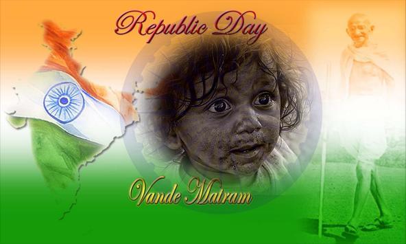 Indian Flag Photo Frame 2017 poster