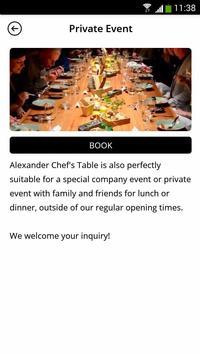 Alexander Chef's Table screenshot 3