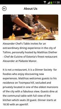 Alexander Chef's Table screenshot 1