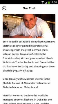 Alexander Chef's Table screenshot 2