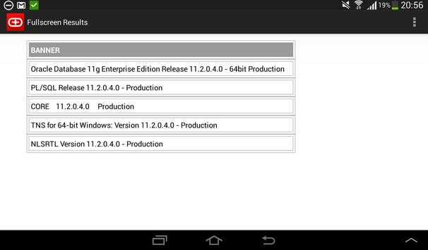 Simple Android Oracle client screenshot 3