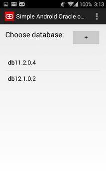 Simple Android Oracle client screenshot 1