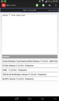 Simple Android Oracle client apk screenshot