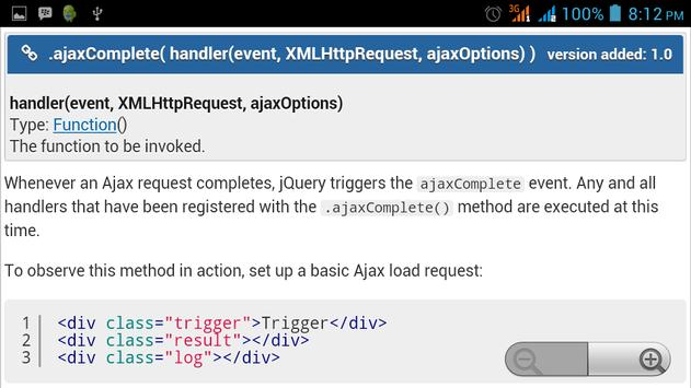 jQuery API Documentation screenshot 9