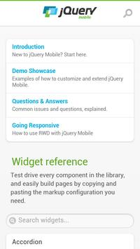 jQuery Mobile 1.3.2 API Docs apk screenshot
