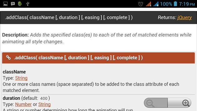 jQuery UI API Documentation apk screenshot