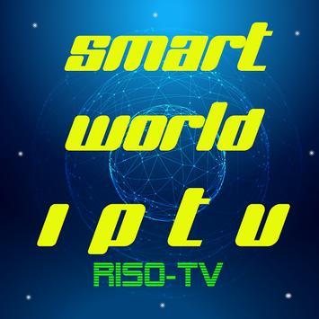 smart world iptv app riso poster