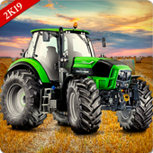 Farming Simulator 19- Real Tractor Farming game ícone