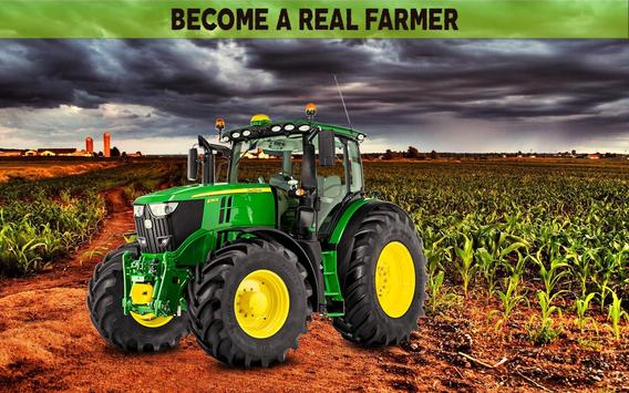 Farming Simulator 19: Real Tractor Farming Game poster