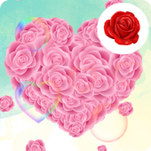Crazy Love Rose Live Wallpaper icon