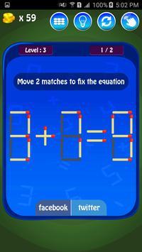 Matches Maths Puzzle screenshot 12