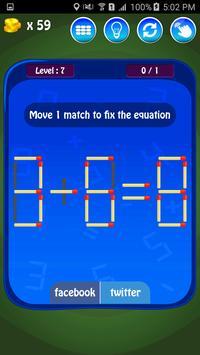Matches Maths Puzzle screenshot 20