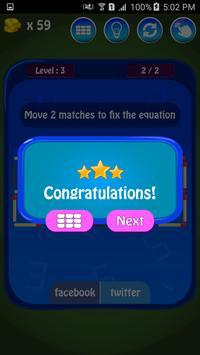 Matches Maths Puzzle screenshot 5