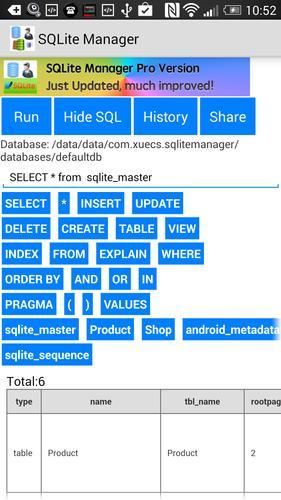 SQLite Manager para Android - APK Baixar