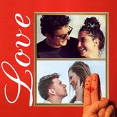 Love photo collage 2 icon