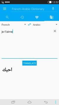 French<->Arabic Dictionary apk screenshot