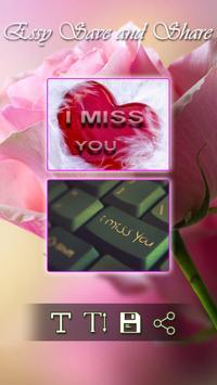 I Miss You &  Miss You Images apk screenshot