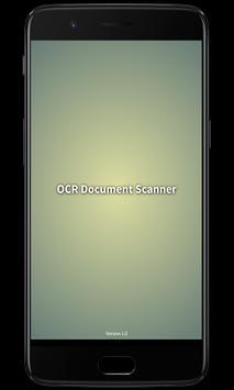 OCR Document Scanner poster