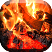 Cozy Fireplace Live Wallpaper icon