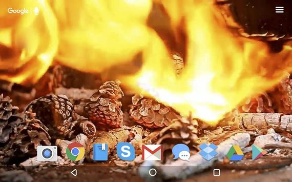 Cozy Fireplace Live Wallpaper apk screenshot