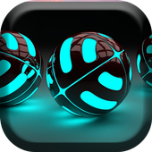 Glowing balls Live Wallpaper icon