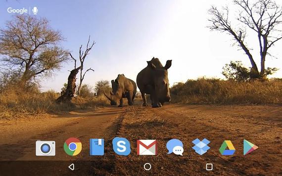 Rhino Kiss Live Wallpaper apk screenshot