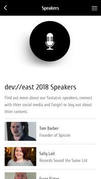 dev://east information app screenshot 1