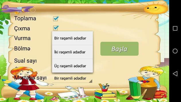 Sadə riyazi əməliyyatlar screenshot 1