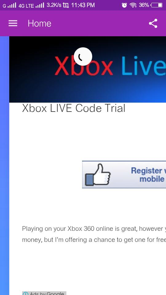 Xbox live trial free codes 48