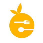 Orange eat icon