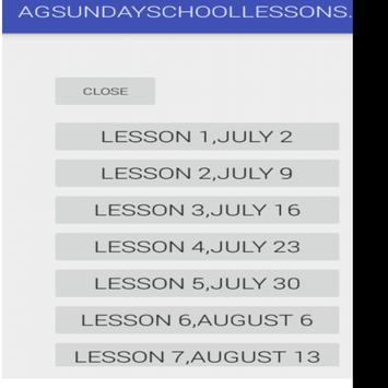 AG SUNDAY SCHOOL LESSON APP poster