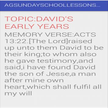AG SUNDAY SCHOOL LESSON APP screenshot 1
