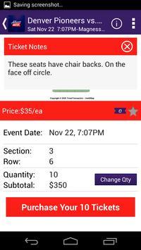 Alliance Tickets screenshot 2