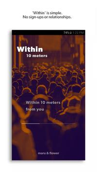 Within, 10 meters poster