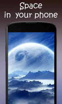 Space Galaxy 3D Live Wallpaper poster