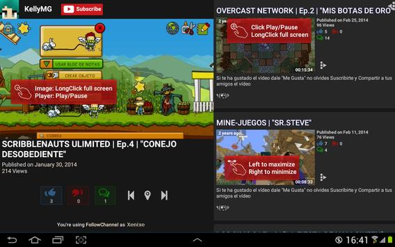 FollowChannel for YouTube free apk screenshot