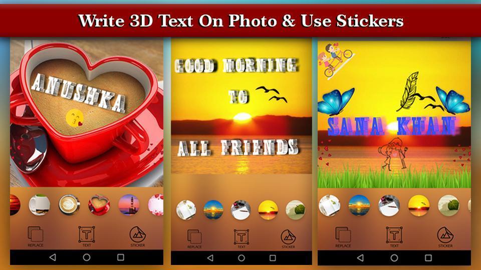 3D Name art Maker - 3D Stylish Text on Photo poster