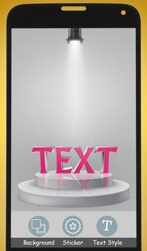 3D Name art Maker - 3D Stylish Text on Photo screenshot 3