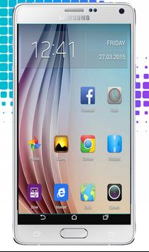 S6 Launcher Theme: Galaxy poster