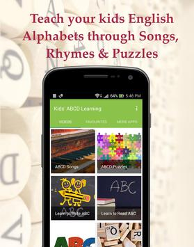 Kids' ABCD Learning : ABC Alphabets Songs & Rhymes poster