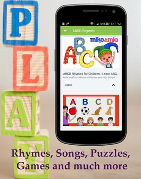 Kids' ABCD Learning : ABC Alphabets Songs & Rhymes screenshot 2