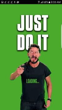 Just Do it Shia Meme Motivator poster
